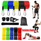 Resistance Workout Bands Loop Set CrossFit Fitness Yoga Booty Leg Exercise Band image