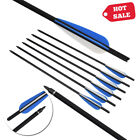 "16/18/20/22"" Archery Crossbow Carbon Arrows Bolts Target Tips Hunting Shooting"