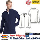 Dickies Scrub RETRO Men's Two Pockets Zip front Bomber Jacket DK360