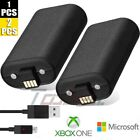 1/2Pack For Official Microsoft XBOX ONE Controller Play and Charge Kit 1400mAh