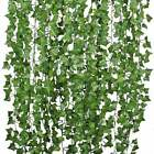 Fake Ivy Leaves 12pk., Artificial Greenery Vines For Decor, Room Decor Garland