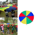 16ft 4 Colors Kid's Play Parachute Tent with 8 Handles Cooperative Games Toy