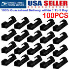 100PCS Self Adhesive Wire Cable Organizer Cord Clip Clamp Wall Table Tidy Holder