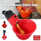 5Pcs/Pack Animal Waterer Drinker Bowl Chicken Birds Pigeon Farm Feeding