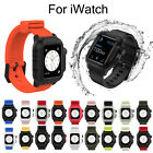 40mm 44mm Silicone Band For iWatch Apple Watch Series 5 4 Waterproof Strap Case