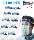 Safety Full Face Shield Reusable Protection Face Eye Cover Cashier Helmet Clear