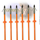 3/6/12PK Archery Fiberglass Arrows Bowfishing Hunting Fishing Arrows with Points