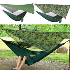 Ultralight Portable Nylon Camping Hammock Mosquito Net with Rain Fly Tent Tarp