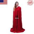 Long Hooded Cloak Witch Cosplay Costume Comfort Cape Fancy Cloak Halloween Party