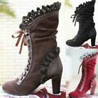 Women Leaf Boots with Vine Curl Heel Knee High Steampunk Cosplay Gothic Shoes D