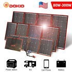 Dokio 100w 200w 300w Foldable Portable Solar Panel for RV/Camping/Car battery