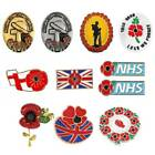 2020 New Poppy Badge Brooch Pin Uk Remembrance Day Poppy Pin Badges Army Navy❀