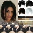 Short Topper Hair Piece Clip in Hair Extensions As Human Hair with Bangs 6inch