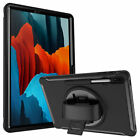 For Samsung Galaxy Tab S7+ Plus 12.4 SM-T970 Protective Rotating Shockproof Case