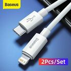 Baseus 2 Pack USB to Type-C Charger Cable PD Fast Charging Data Cord for iPhone