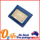 Leather Women ID Wallet Card Holder RFID Credit Card Protection Mini Purse