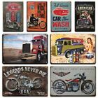 Vintage Motorcycle Garage Plaque Signs Man Cave Wall Decor Metal Posters Retro