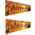 2.5M Happy Halloween Banner Outdoor Sign Hanging Party Backdrop Yard Decor