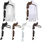 US Gothic Steampunk PU Adjustable Rivets Shoulder Armors with Arm Strap Sets HQ