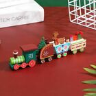 Wooden Christmas Train Ornaments Santa Tree Deer And Gifts Sets Home Table Decor