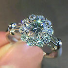 Gorgeous Wedding Rings Women 925 Silver Jewelry White Sapphire Ring Size 6-10