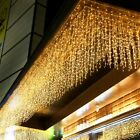 Wedding Party Lights Outdoor Decors 5m Droop 0.4-0.6m LED Curtain Icicle Strings