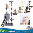 Large Cat Tree Tower Kitten Scratching Post Pet Activity Centre Scratcher Nest