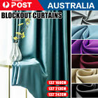 2x Blockout Curtains Thermal Blackout Curtains Fabric Pair Eyelet / Luxury Type