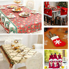 丿 16PCS Christmas Dinnerware Set for 6 Kitchen Table Decorations Santa Claus Hat
