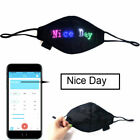 LED Programmable Face Mask Bluetooth Custom Sign USB Rechargeable Party SUPPLY
