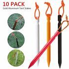 10 Pack Heavy Duty Aluminum Metal Tent Canopy Camping Stakes Pegs Ground Nail Bt