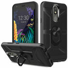 For LG Aristo 2/3/4+/Tribute Empire/Phoenix 4 Rugged Armor Case+Screen Protector