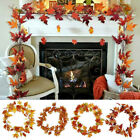Artificial Autumn Maple Leaves Garland Hanging Plant Home Decor Halloween Xmas