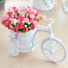 Artificial Peonies Flowers With Cycle Shape Vase Basket Pot Home Room Decoration