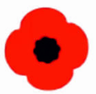 20x Poppy Remembrance Vinyl Sticker Stickers Craft  Lest We Forget Car Home