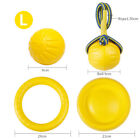 4 Pcs Dog Toys Flying Fetch Toy Water Chew Balls Rope Training Pet