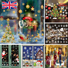 Christmas Xmas Santa Removable Window Stickers Art Decal Wall Home Shop Decor Y