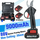 88V Cordless Electric Pruning Shears Li-ion Secateur Branch Cutter  1/2 Battery