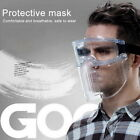 Clear Face Shield Mask Reusable Durable Combine Plastic Face Mask Cover US!