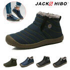 Men's Winter Bootie Outdoor Waterproof Warm Snow Boots Ski Ankle House Shoes