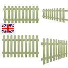 Wooden Picket Fence Fencing Garden Wood Lawn Border Flower Edging Panels 4 Sizes