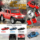 1:32 Jackiekim JEEP Rubicon Pickup Diecast Model +Motorbike Collect Sounds&Light