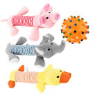 Pet Puppy Chew Squeaker Squeaky Plush Sound Pig Elephant Duck Ball For Dog 7E