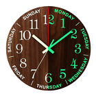12''  Luminous Wall Clock Glow In The Dark Silent Quartz Indoor Outdoor Home