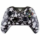 eXtremeRate Hydro Dipped Front Housing Shell Faceplate Cover (White Skulls)