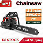 COOCHEER 62CC 20 Gas Chainsaw Handed Petrol Chain Woodcutting 2 Cycle 4HP B 142