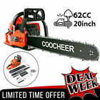COOCHEER 62CC 20 Gas Chainsaw Handed Petrol Chain Woodcutting 2 Cycle 4HP B 150