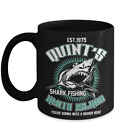 Quint's Shark Fishing - Jaws - Deep Sea Fishing - Black Ceramic Coffee Mug