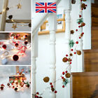 Pine Cone LED String Fairy Lights Red Berry Christmas Tree Garland Party Decor x