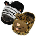 Womens Dunlop Animal Bootee Slipper Ladies Winter Novelty Gift Slippers Size 3-8